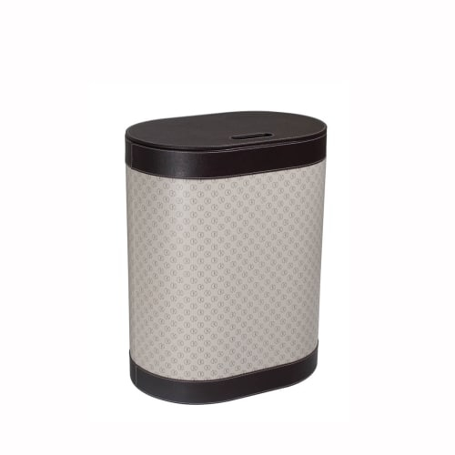 WS Bath Collections Icon 2465 Icon Leather Laundry Basket