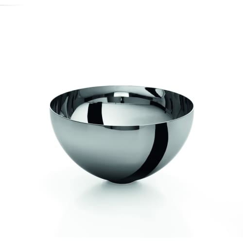 WS Bath Collections Acquaio 53586 9-3/5' Stainless Steel Vessel Bathroom Sink from the Linea Collection