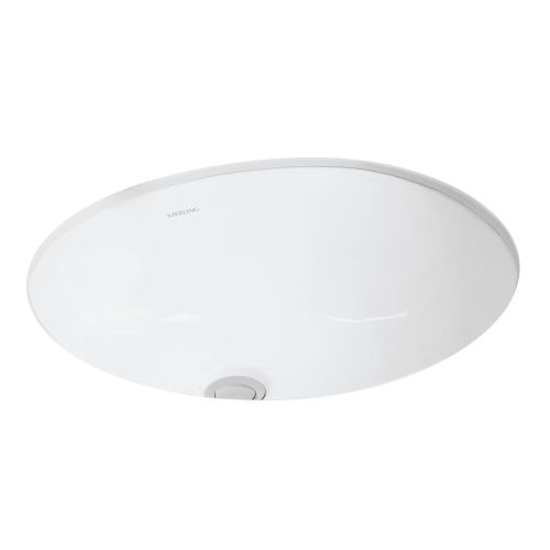Sterling 442040 Wescott 17' Undermount Bathroom Sink And Overflow - White Finish