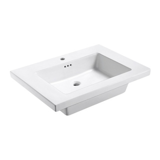 Eclipse 31' W x 22' L Ceramic Vanity Top in White