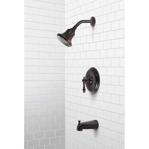 Premier 120353 Charlestown Tub and Shower Trim Package with Single Function Shower Head and Pressure Balanced Valve - Bronze Finish - Basin Tap