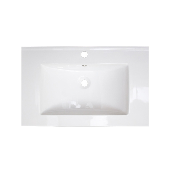 21-in. W x 18-in. D Ceramic Top In White Color For Single Hole Faucet - White