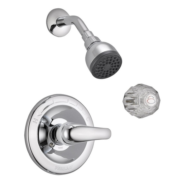 Peerless Tub and Shower Faucet 1 Handle Bedford Chrome Finish Metal Material