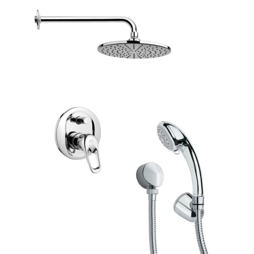 Nameeks SFH6154 Remer 2.5 GPM Round Single Function Rain Shower Head with Hand Shower - Includes Rough In Valve