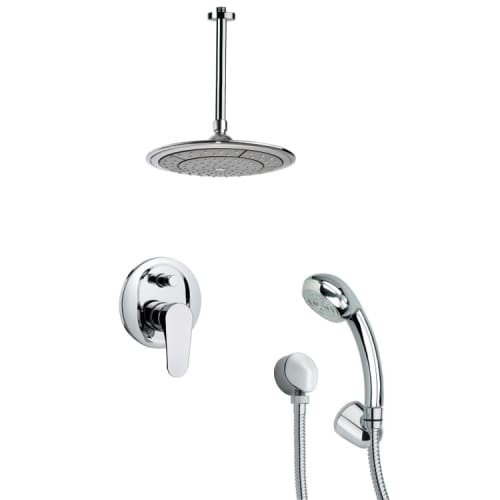 Nameeks SFH6003 Remer 2.5 GPM Round Single Function Rain Shower Head with Hand Shower - Includes Rough In Valve