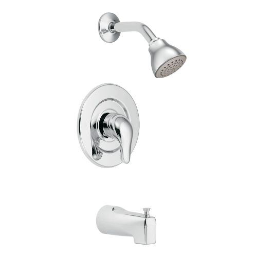 Moen TL471 Pressure Balanced Tub and Shower Trim with 2.5 GPM Shower Head and Tub Spout from the Chateau Collection (Less Valve) - Moen TL471 Pressure Balanced Tub and Shower Trim with 2.5 GPM
