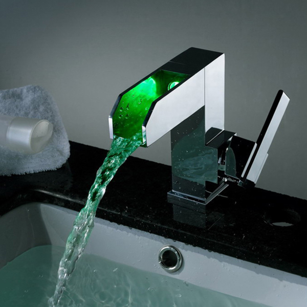 Kokols LED Color Changing Waterfall Vessel Sink Faucet - LS04