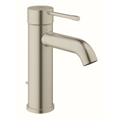 Grohe 23 592 A Essence Single Hole Bathroom Faucet with SilkMove, QuickFix, and EcoJoy Technology - Pop-Up Drain Assembly - Chrome Finish