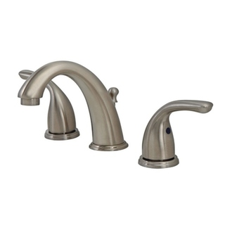 OakBrook Coastal Widespread Lavatory Pop-Up Faucet 6in. - 12 in. Brushed Nickel