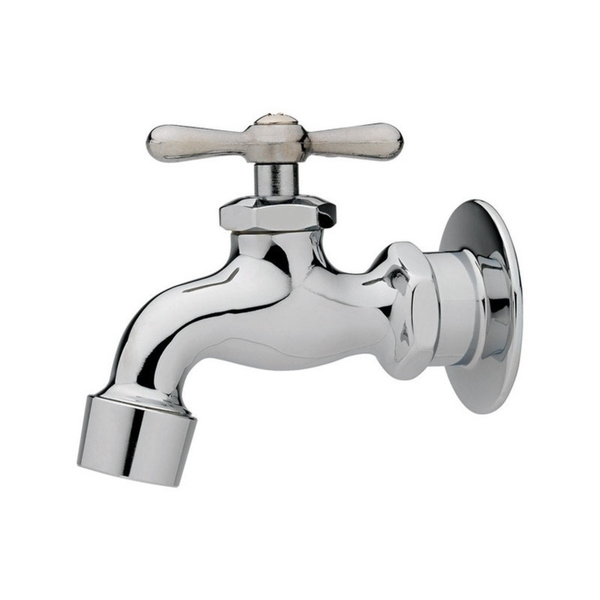 Homewerks One Handle Chrome Wall Mount Faucet
