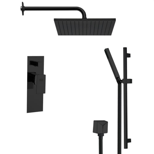 Nameeks SFR7099 Remer Shower System with Multi Function Rain Shower Head, Hand Shower, Slide Bar, and Rough In