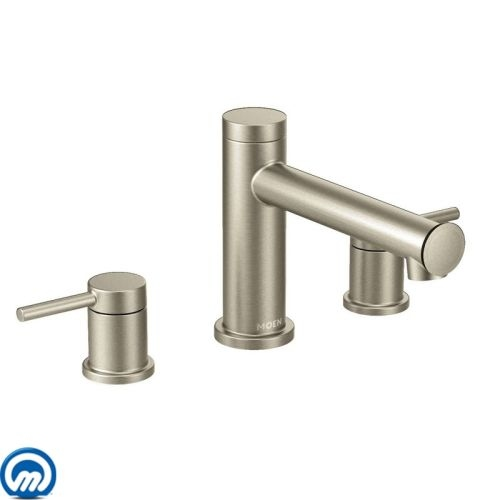 Moen T393 Deck Mounted Roman Tub Faucet Trim from the Align Collection (Less Valve)