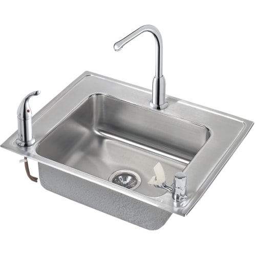 Elkay DRKAD282250LC 28' Single Basin Drop-In Stainless Steel Utility Sink with H