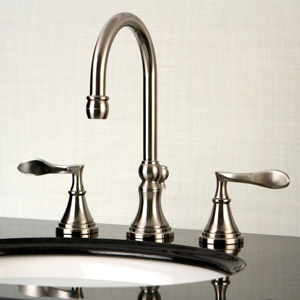 Modern Widespread Satin Nickel Bathroom Faucet - Satin Nickel