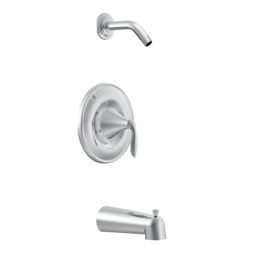 Moen T62133NH Posi-Temp Pressure Balanced Tub and Shower Trim and Tub Spout from the Eva Collection (Less Valve)