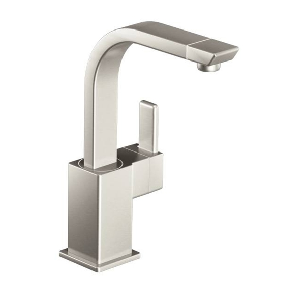 Moen S5170SRS 90-degree Stainless 1-handle High Arc Bar Faucet - Moen 90 Degree Spot Resist High Arc Bar Faucet