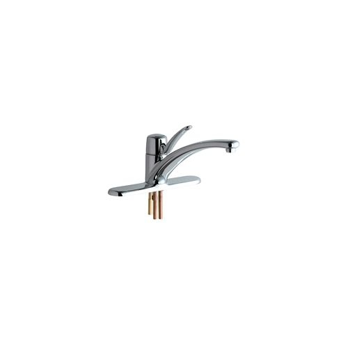 Chicago Faucets 2300-8E34AB Commercial Grade Kitchen Faucet with Lever Handle and Escutcheon Plate (Eco-Friendly Flow Rate)