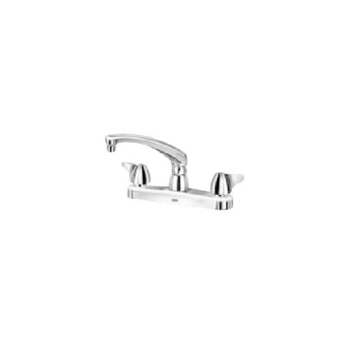 Zurn Z871G3-XL Double Handle Kitchen Faucet with Metal Blade Knob Handles from the Aquaspec Series
