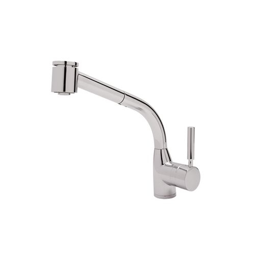 Rohl R7923 Lux Single Kitchen Faucet with Pull Out Spray and Metal Lever Handle - Pull Out - Nickel Finish