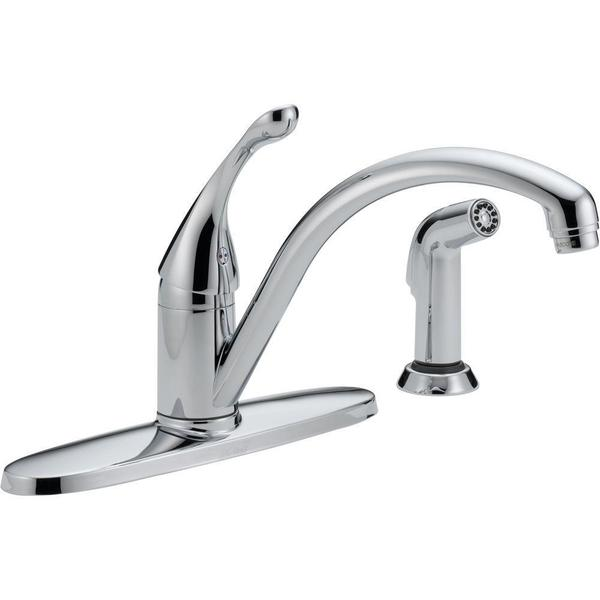 Delta Collins Single-Handle Side Sprayer Kitchen Faucet in Chrome 440-DST - Kitchen/Bar Faucets