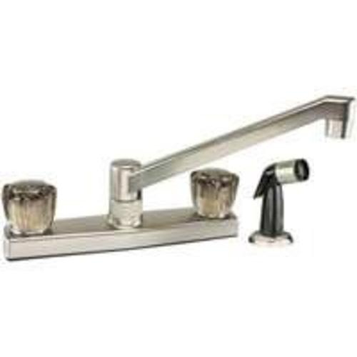 Toolbasix JY8201SBN Kitchen Faucet Non-Metal With Spray, Brass Nickel
