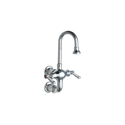 Chicago Faucets 225-261AB Wall Mounted Utility / Service Faucet with Lever Handles - Commercial Grade