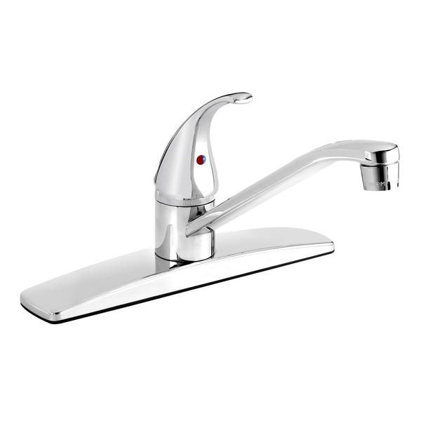 EBO65BCP Polished Chrome 1-handle Kitchen Sink Faucet with Low-arc Spout - Polished Chrome