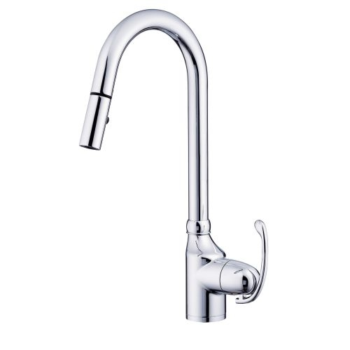Danze D457121 Anu Pullout Spray Kitchen Faucet with 360 Degree Swivel and SnapBack Technology