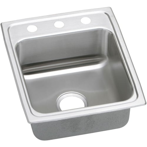 Elkay LRADQ172045 Gourmet 17' Single Basin Drop In Stainless Steel Kitchen Sink