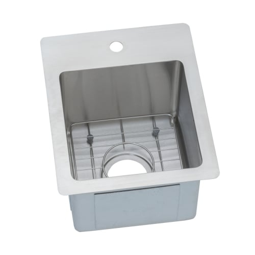 Elkay ECTSR13169BG Crosstown 16' x 13' Single Basin Undermount or Drop In Stainless Steel Kitchen Sink with Bottom Grid