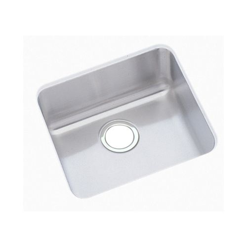 Elkay ELUHAD121255 Gourmet 14-1/2' Single Basin 18-Gauge Stainless Steel Kitchen Sink for Undermount Installations with