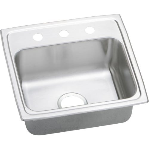Elkay PSR1918 Gourmet 19' Single Basin 20-Gauge Stainless Steel Kitchen Sink for Drop In Installations with SoundGuard
