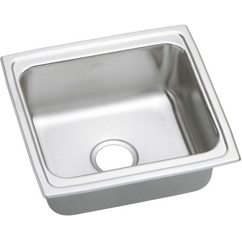 Elkay LFRAD191860 Gourmet 19' Single Basin Drop In Stainless Steel Kitchen Sink