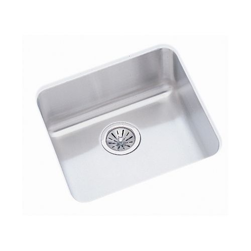 Elkay ELUH1616 Gourmet 18-1/2' Single Basin 18-Gauge Stainless Steel Kitchen Sink for Undermount Installations with SoundGuard