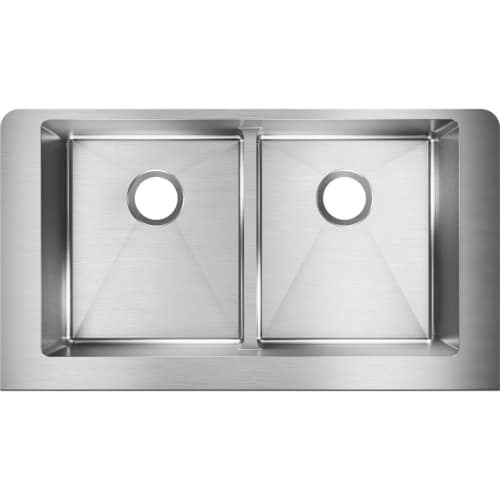 Elkay ECTRUFA32179 Crosstown 35-7/8' x 20-1/4' Double Basin Stainless Steel Kitchen Sink with Aqua Divide
