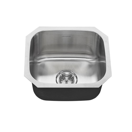 American Standard 18SB.9181600S Portsmouth 17-13/16' Single Basin Stainless Steel Kitchen Sink for Undermount Installations -