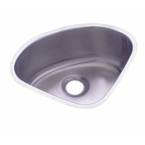 Elkay ELUH1111 Mystic Lustertone Stainless Steel 14' x 14' Single Basin Undermount Kitchen Sink with 6-3/8' Depth