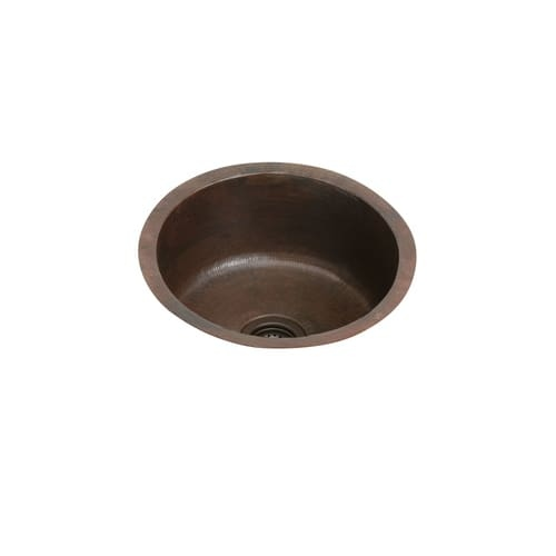 Elkay ECU16FBACH The Mystic 18-3/8' Single Basin 16-Gauge Hammered Copper Kitchen Sink for Undermount Installations with