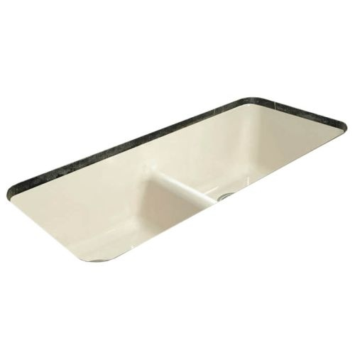 Miseno MCI44-0UM-LD 43' Cast Iron Double Basin Kitchen Sink for Undermount Installations with 50/50 Split and Sound Dampening