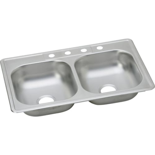 Elkay KJ23322 Kingsford 33' Double Basin Drop In Stainless Steel Kitchen Sink
