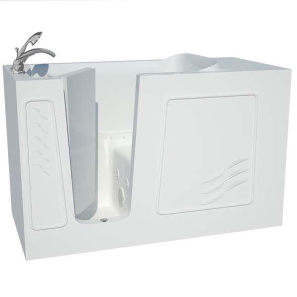 Explorer Series 30x60 Left Drain White Air and Whirlpool Jetted Walk-in Bathtub - 30x60 inch, Dual Tub, White, Left
