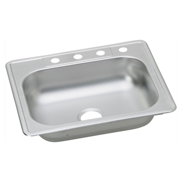 Elkay 23-gauge Stainless Steel 25-inch x 22-inch x 6.0625-inch Single-bowl Top-mount Kitchen Sink - Stainless Steel